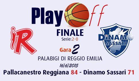 Gara 2, è ancora Reggio Emilia