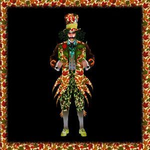 Bozzetto di Fabio Loi per il costume del Cappellaio Matto (interpretato da Nicola Virdis)