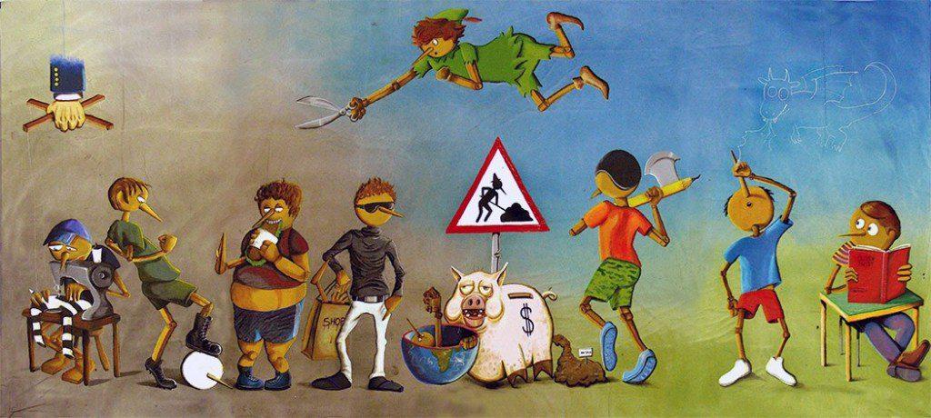 La tela di Pinocchio in mostra a Palazzo di Città