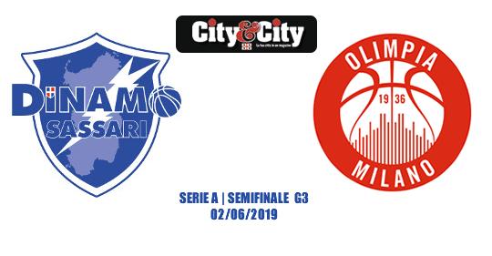 Playoff, semifinali gara 3: Sassari-Milano alle 20,45. Diretta RAI Sport ore 20.35