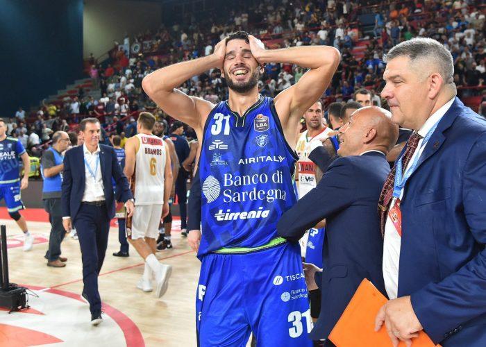 La gioia di Michele Vitali per la vittoria della Supercoppa italiana