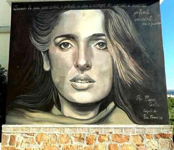 Murales dedicato a Maria Carta a Siligo
