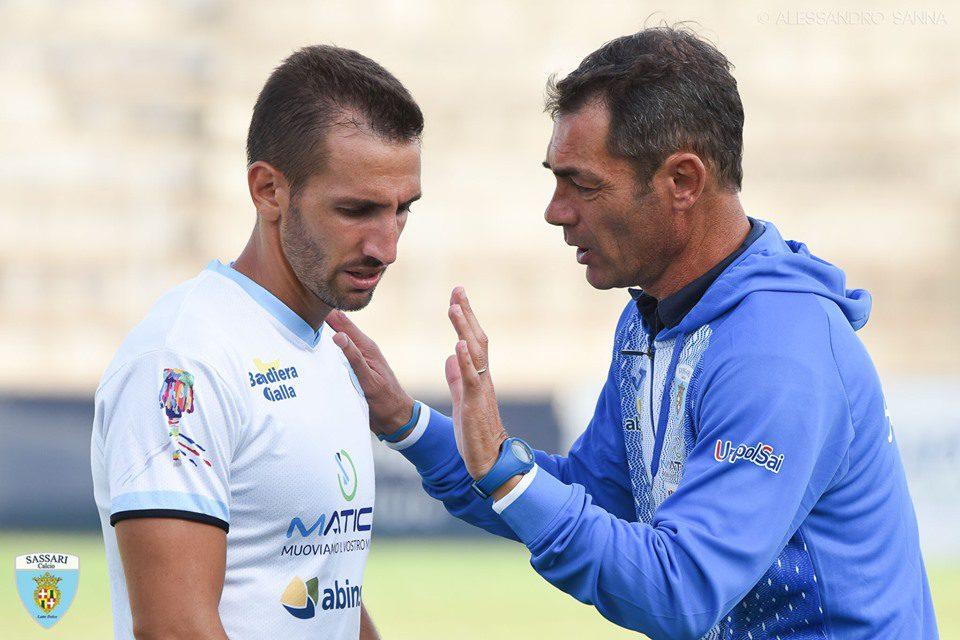 Daniele Bianchi con mister Stefano Udassi foto di Alessandro Sanna