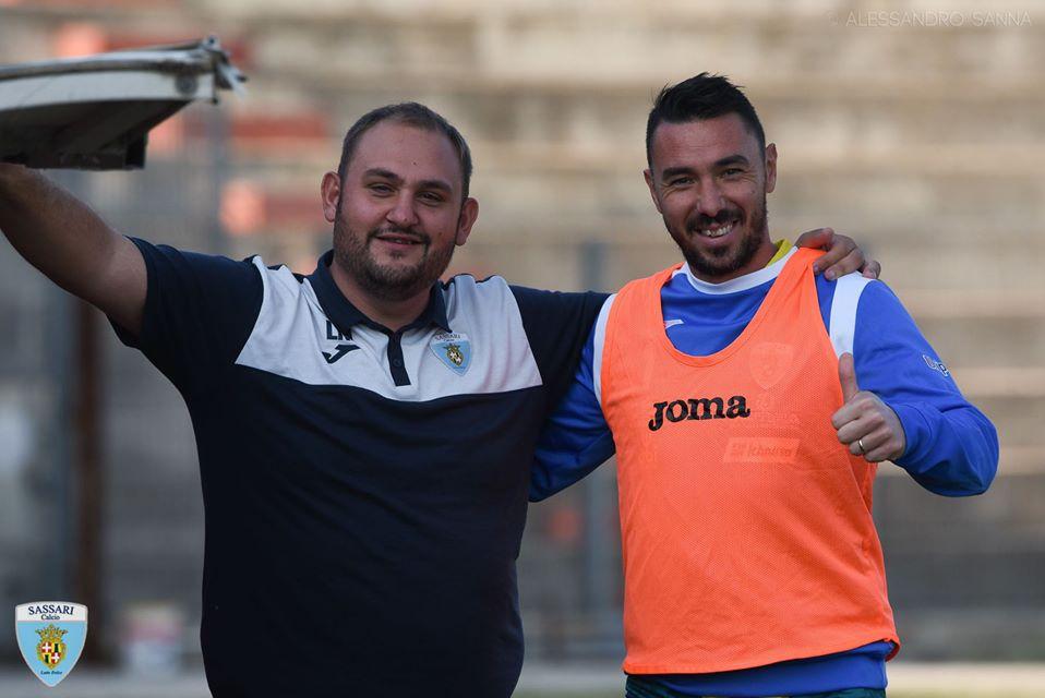 Pierpaolo Garau e il team manager Lello Mela foto di Alessandro Sanna