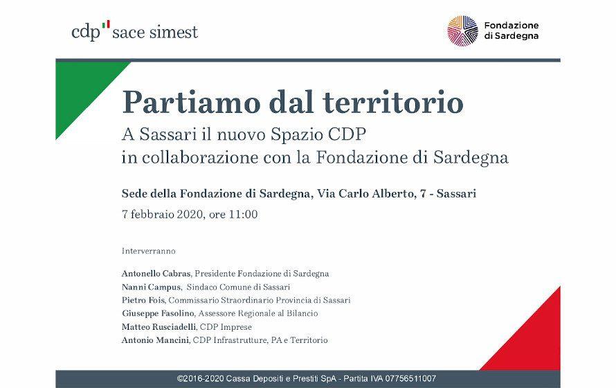 Partiamo dal territorio: A Sassari il nuovo Spazio CDP, in collaborazione con la Fondazione di Sardegna