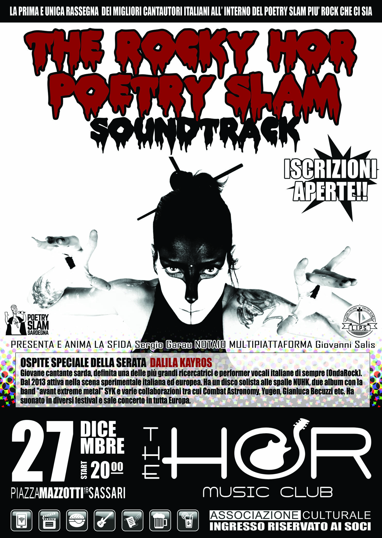 "IL RITORNO DEL ""THE ROCKY HOR POETRY SLAM"""