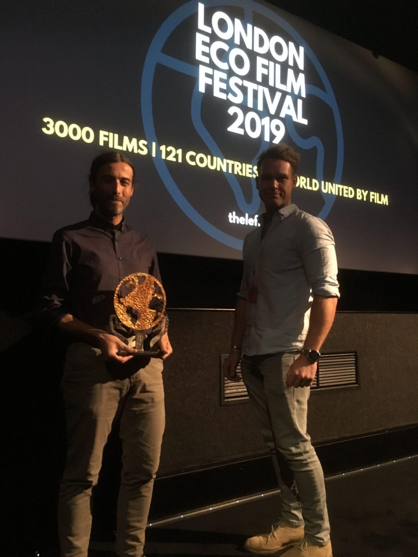 foto the man of trees_premiazione regista Tore Manca al London Eco Film Festival