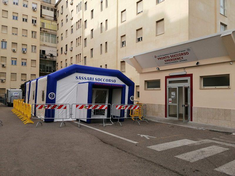 AOU Sassari: Attivata la tenda pre-triage al Santissima Annunziata