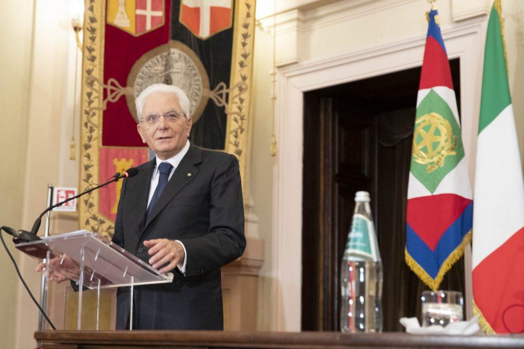Sergio Mattarella all'Università di Sassari
