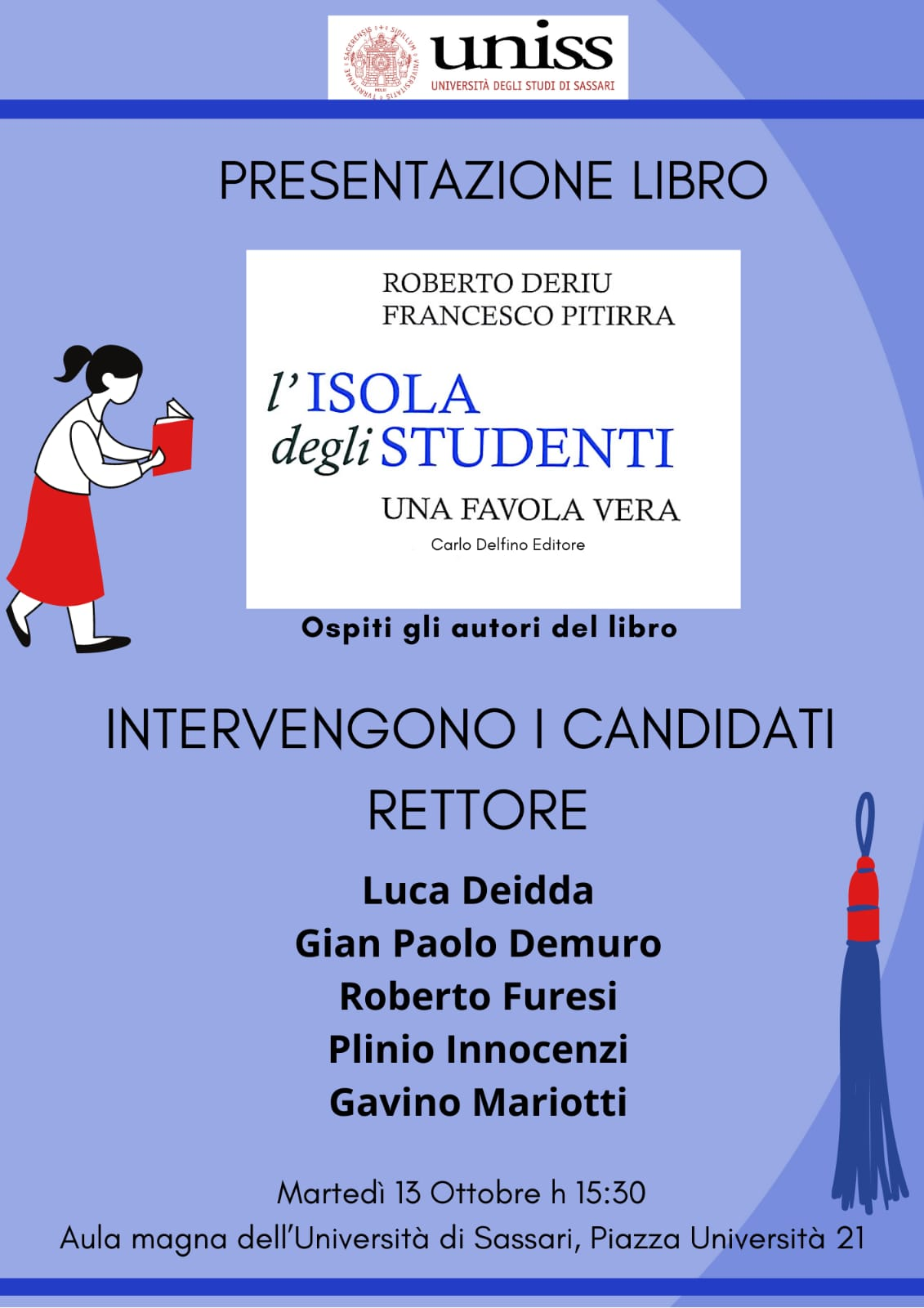 """Università degli studi di Sassari: presentazione del libro """"L'Isola degli studenti: una favola vera"""""""