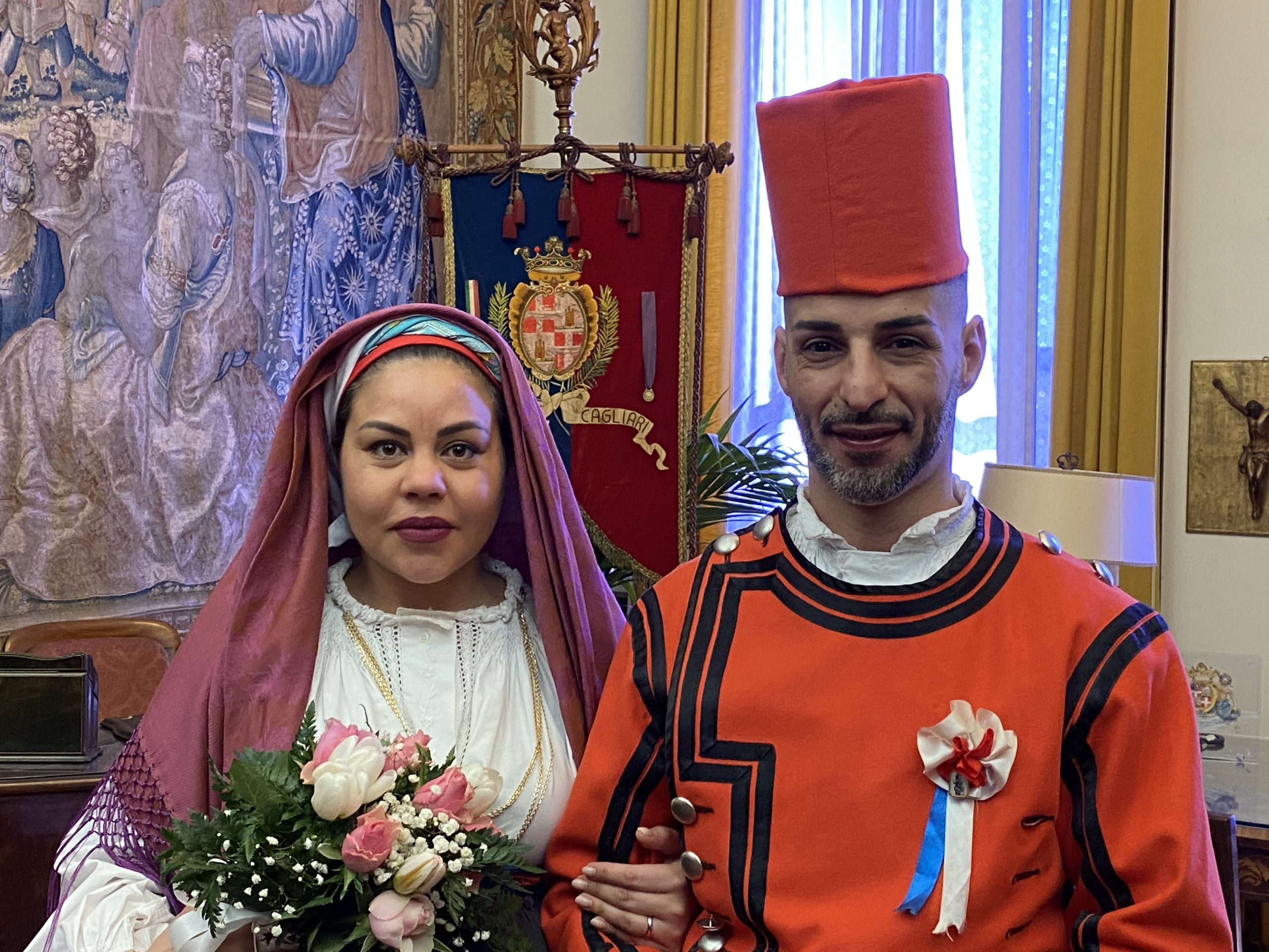 Cagliari   Celebrato in Municipio da Alessandro Sorgia il Matrimonio di un Miliziano di Sant'Efisio