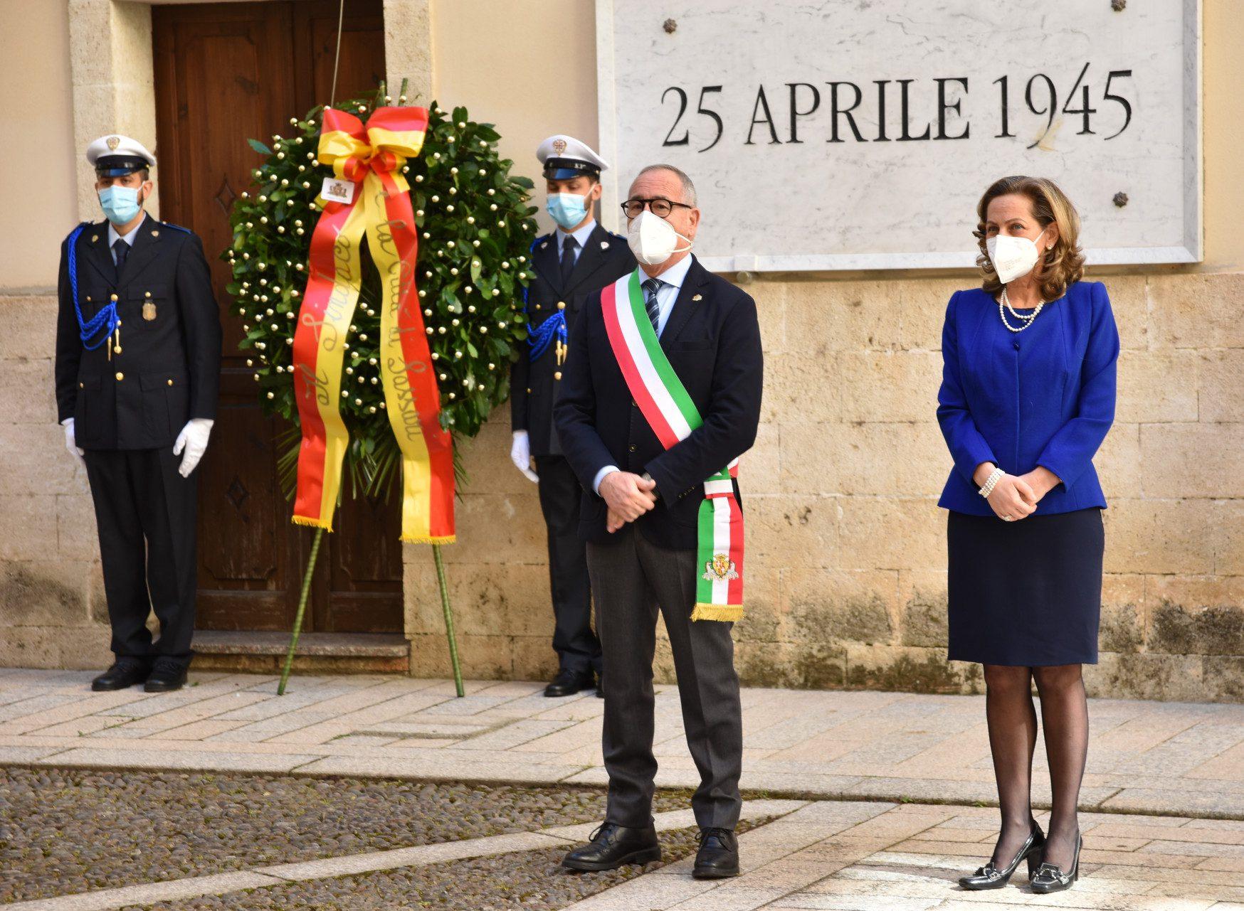 Sassari – 25 aprile, a Palazzo Ducale cerimonia ristretta e significativa