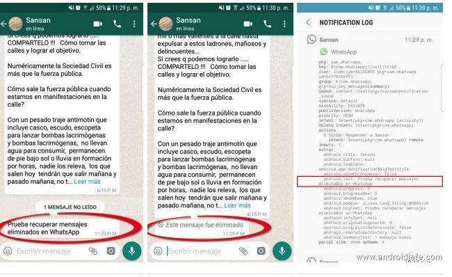 WhatsApp: come leggere i messaggi eliminati