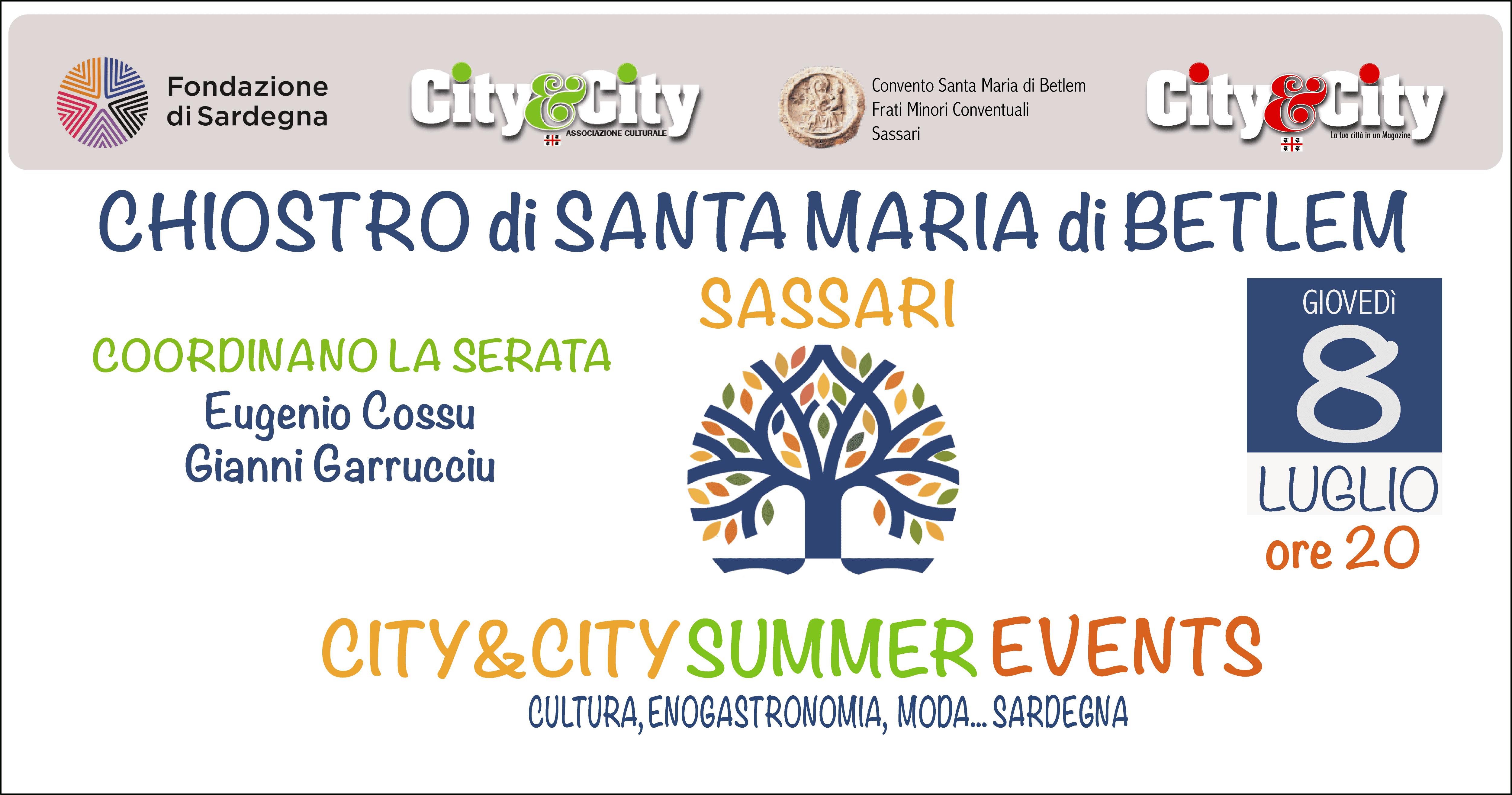 """Sassari –  """"Dove eravamo rimasti…"""" primo appuntamento col """"City&City Summer Events"""""""