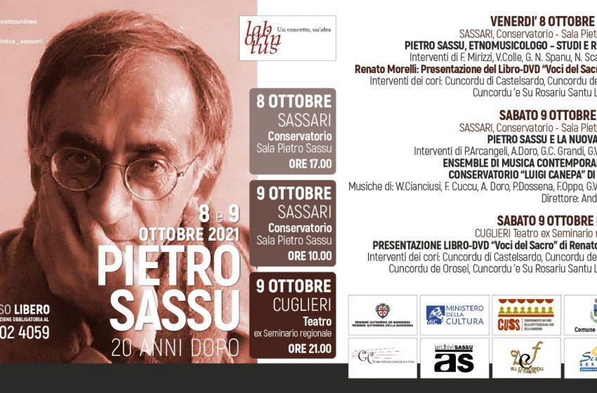 20 anni dopo    Convegno dedicato alla figura di Pietro Sassu
