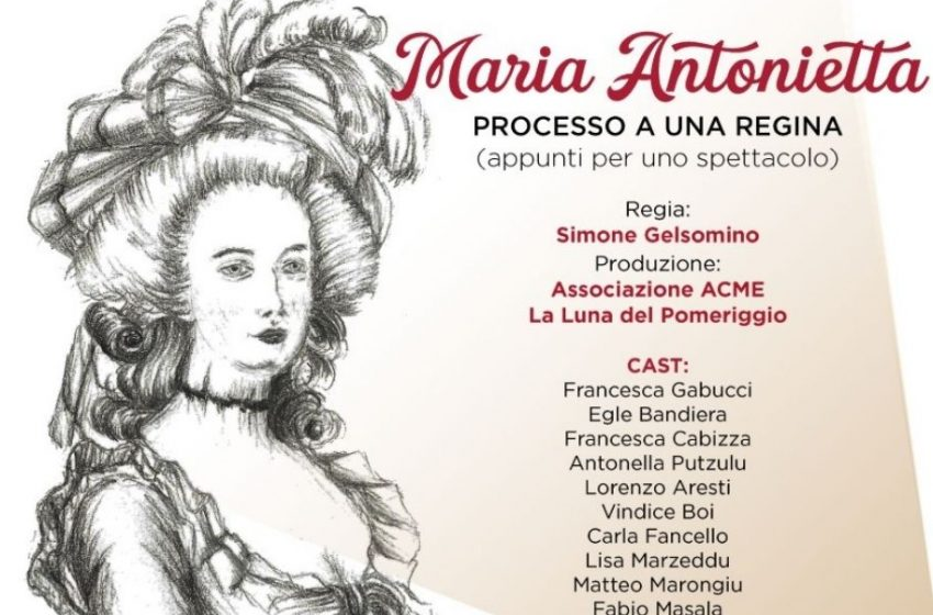 """Lo spettacolo """"Maria Antonietta, processo di una Regina"""" all'Auditorium provinciale di Sassari"""
